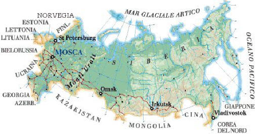 Cartina Fisica Russia Asiatica.Russia Europea Russia Asiatica